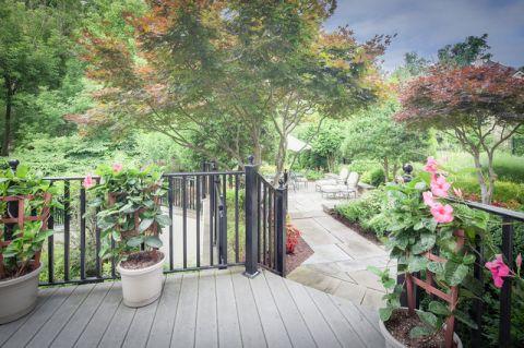 阳台绿色细节美式风格装饰图片
