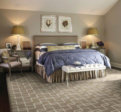 卧室咖啡色照片墙美式风格装饰效果图