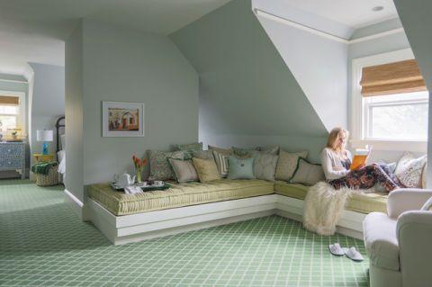 卧室彩色细节美式风格装修设计图片