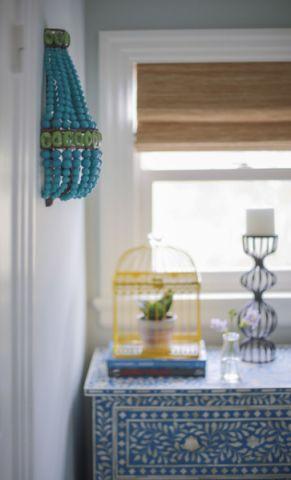 卧室彩色窗台美式风格装饰设计图片