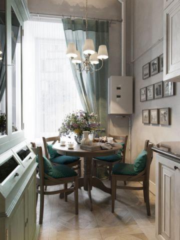 餐厅米色细节美式风格装潢设计图片