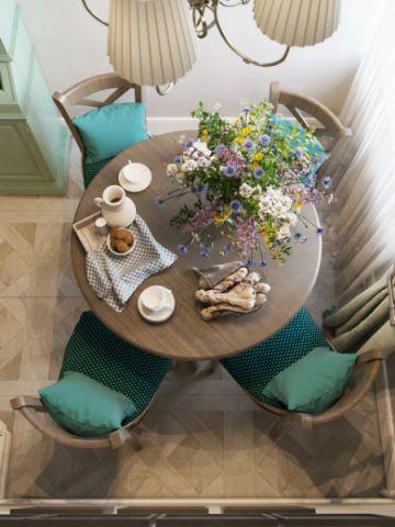 餐厅咖啡色细节美式风格装饰效果图