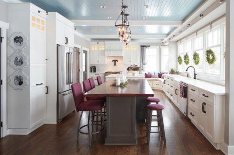 休闲质感美式风格厨房装修效果图_土拨鼠2017装修图片大全