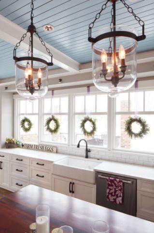 厨房白色细节美式风格装饰图片