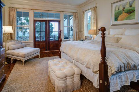 卧室推拉门美式风格装修设计图片
