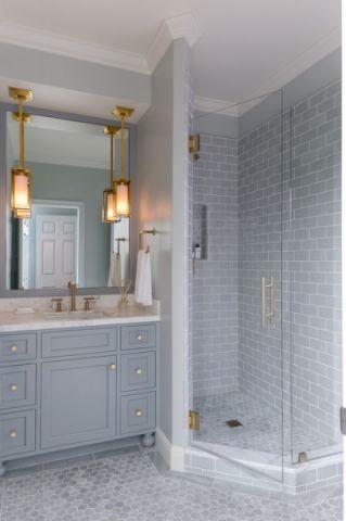 完美舒适美式风格浴室装修效果图_土拨鼠2017装修图片大全
