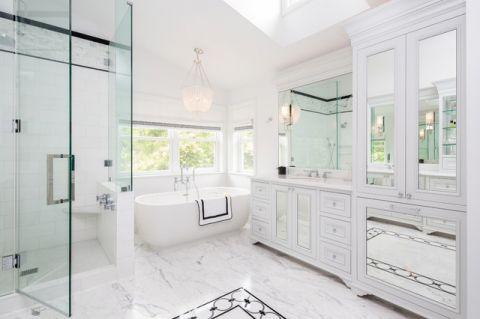 优雅时尚美式风格浴室装修效果图_土拨鼠2017装修图片大全