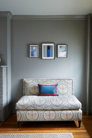 卧室灰色细节简欧风格效果图