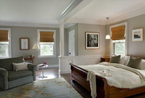 卧室白色细节简欧风格装饰图片