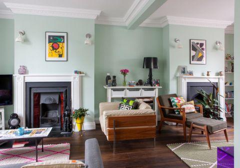 客厅绿色沙发简欧风格装饰效果图