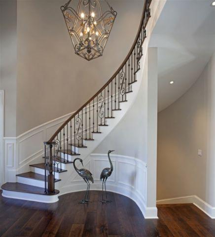 客厅白色楼梯简欧风格装饰设计图片