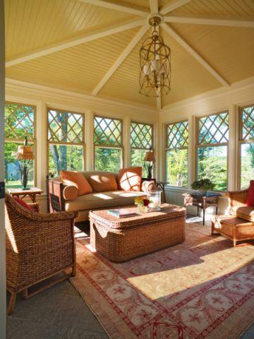客厅黄色沙发简欧风格效果图