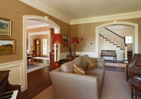 客厅黄色沙发简欧风格装饰效果图