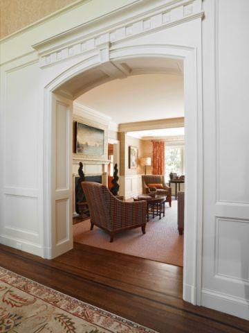客厅白色门厅简欧风格装潢效果图