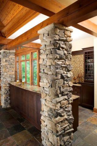 厨房黄色走廊简欧风格装潢设计图片