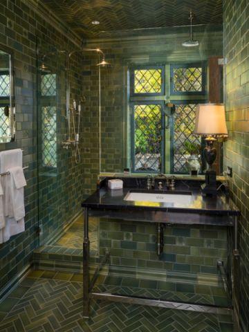 卫生间蓝色细节简欧风格装潢设计图片