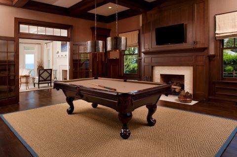 客厅红色细节简欧风格装饰图片