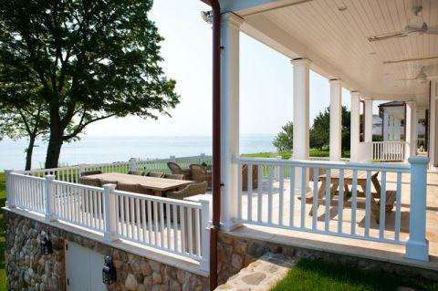 阳台白色细节简欧风格装潢图片