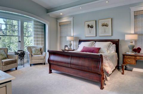 卧室白色床简欧风格装潢效果图