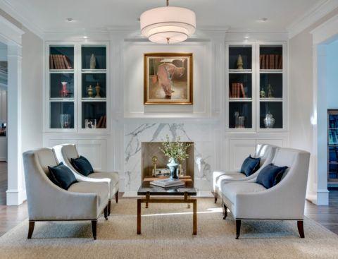 客厅白色沙发简欧风格装修图片