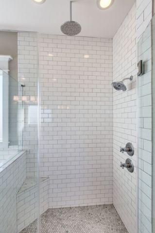 卫生间白色细节简欧风格效果图