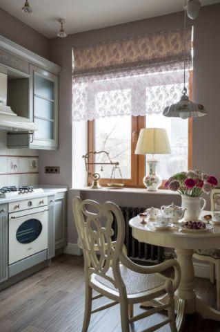 厨房餐桌简欧风格装潢设计图片