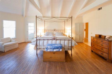 卧室白色床简欧风格装修图片