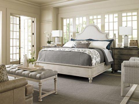 卧室白色细节简欧风格装潢效果图