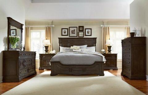 卧室米色细节简欧风格装饰图片