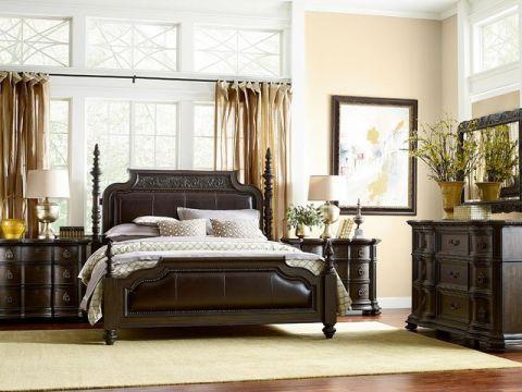 卧室黄色细节简欧风格装饰设计图片