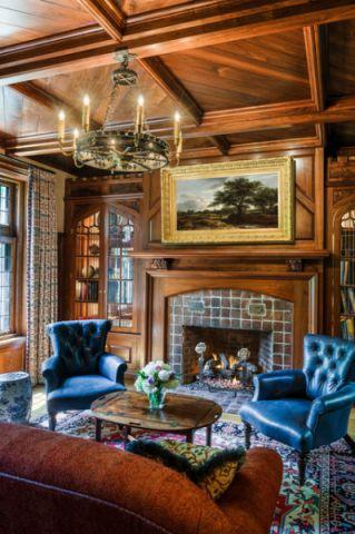 客厅黄色茶几简欧风格装潢效果图