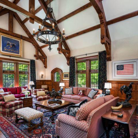 客厅黄色茶几简欧风格装饰图片