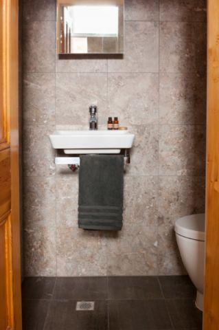 卫生间灰色细节简欧风格装修图片
