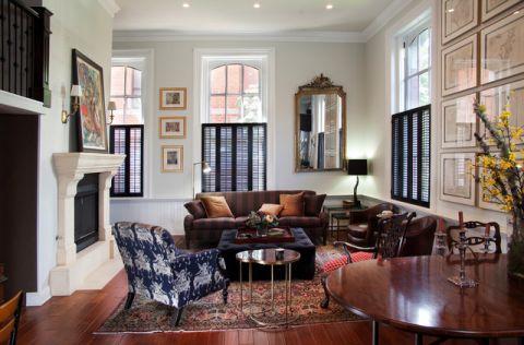 客厅红色茶几简欧风格装潢设计图片