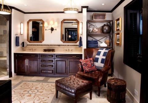 卫生间红色沙发简欧风格装修图片