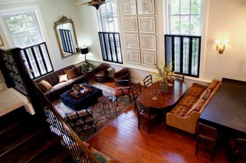 客厅橙色细节简欧风格装饰图片