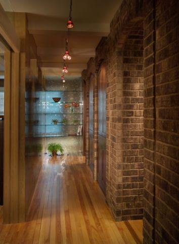 客厅黄色走廊简欧风格效果图