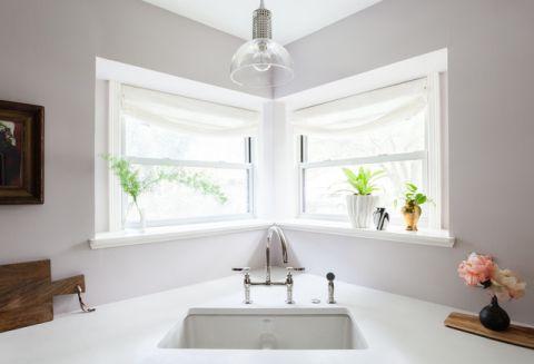 厨房白色细节混搭风格装潢设计图片