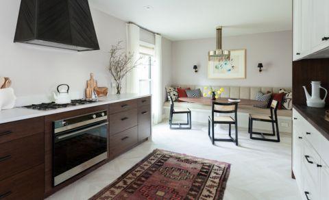 厨房白色橱柜混搭风格效果图