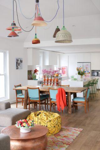 餐厅白色餐桌混搭风格装修图片