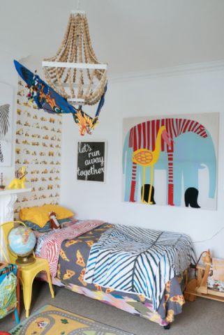 儿童房白色细节混搭风格装饰效果图