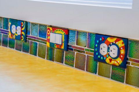 厨房彩色细节混搭风格装修设计图片