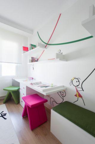 休闲质感现代风格儿童房装修效果图_土拨鼠2017装修图片大全
