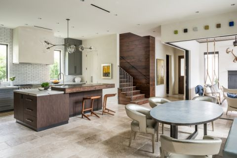 厨房现代风格装潢图片