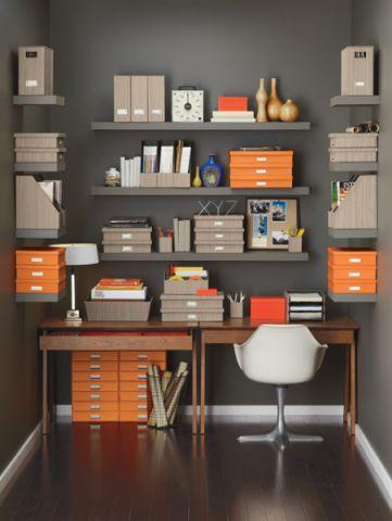 书房现代风格装潢效果图