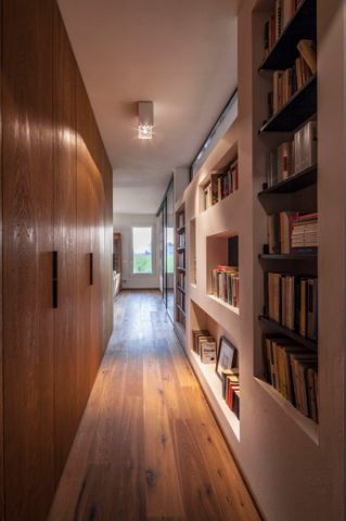 唯美现代风格走廊装修效果图_土拨鼠2017装修图片大全