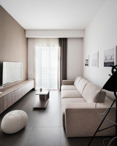 唯美现代风格客厅装修效果图_土拨鼠2017装修图片大全