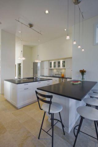 厨房白色厨房岛台现代风格装潢图片