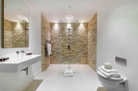 卫生间白色细节现代风格装潢设计图片