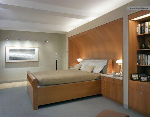 卧室咖啡色榻榻米现代风格效果图